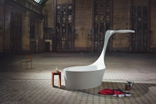 Hasenkopf Corian Designcharacter Swan Badewanne