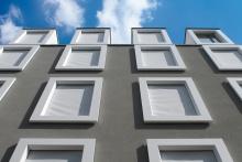 Corian Fenster-Rahmen für Fassade in der Kaisserstrasse München
