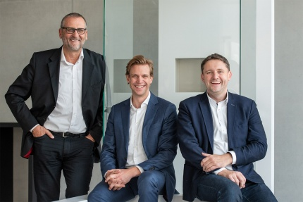 Geschäftsführer Roland Hasenkopf, Patrick Löchelt, Tobias Mehlsam