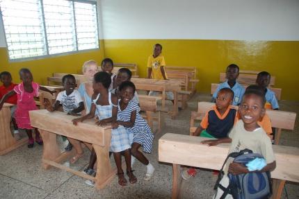 Kinderträume Ghana Schulbesuch