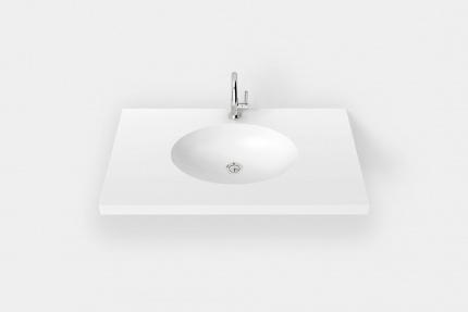 Ovales Waschbecken aus DuPont Corian