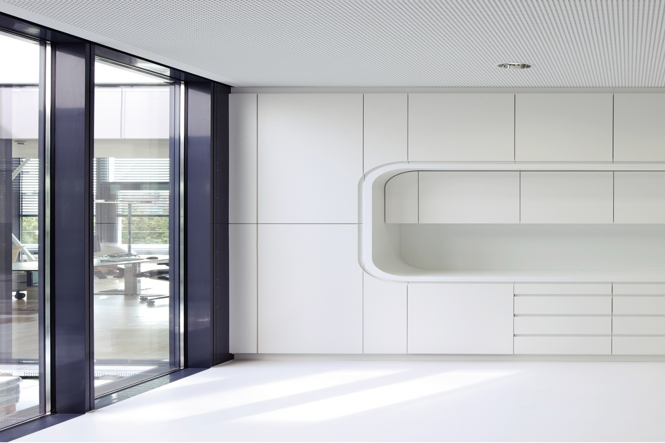 Hasenkopf Projekt Corian Innenausbau für BGV Hauptsitz