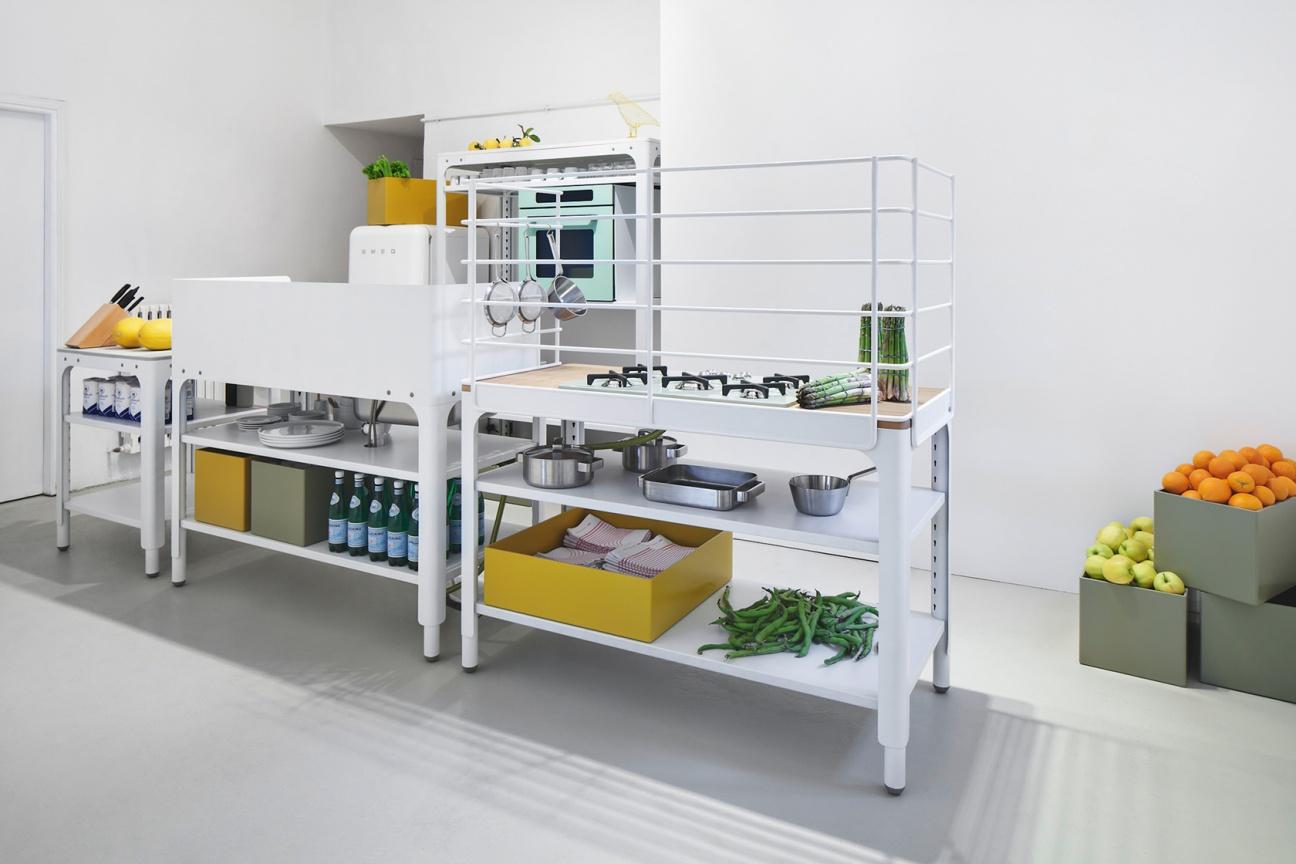 concept kitchen von naber mit corian arbeitsplatte | hasenkopf