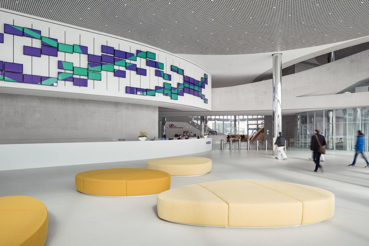 Empfangstheke im Merck Innovation Center