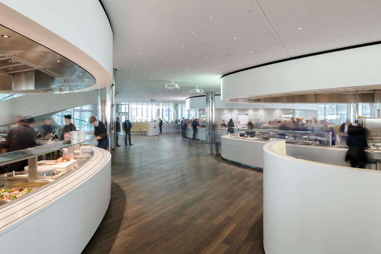 Mitarbeiter-Kantine im Merck Innovation Center