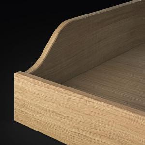 Schublade mit englischem Zug geschweift