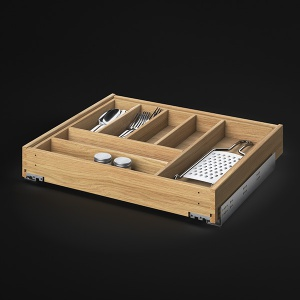 Küchenschubladen mit Besteckeinsatz