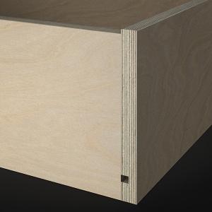 Schublade aus Sperrholz