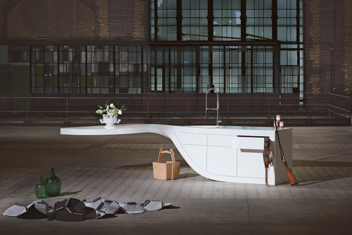 Hasenkopf Design Characters Twister Corian Küchen-Arbeitsfläche
