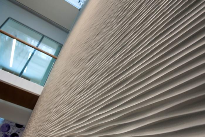 Gifatec Wand mit Linienstruktur für Allguth