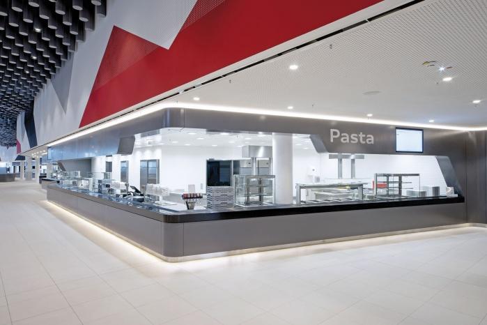 Audi Betriebsrestaurant mit CORIAN-Verkleidung