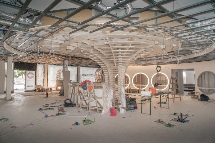Lichtpilz Unterkonstruktion für Hasenkopf Projekt Beautysalon Egger