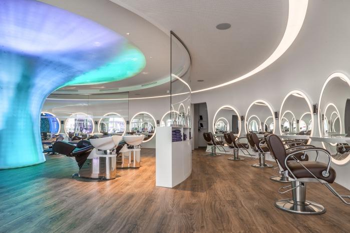 Hasenkopf Projekt Beautysalon mit hinterleuchtetem Interieur