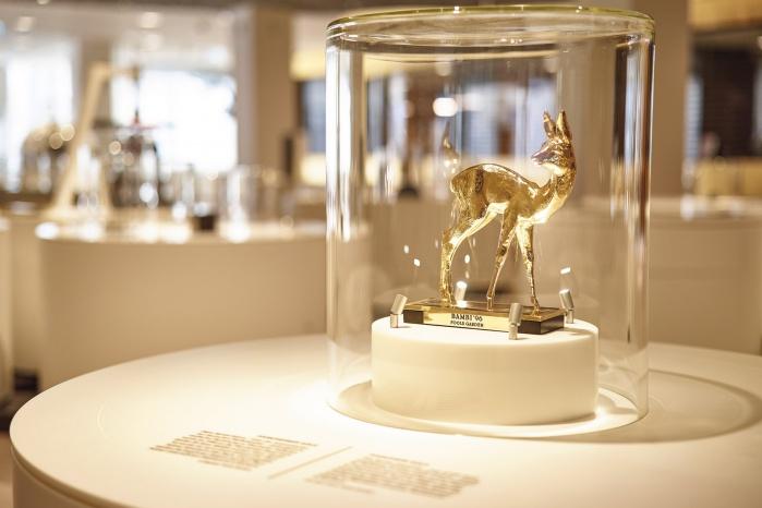 Dauerausstellung in der Goldstadt Pforzheim: goldenes Bambi
