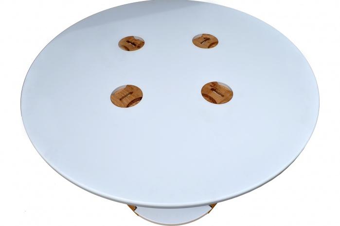 Tisch-Platte aus weißem Corian