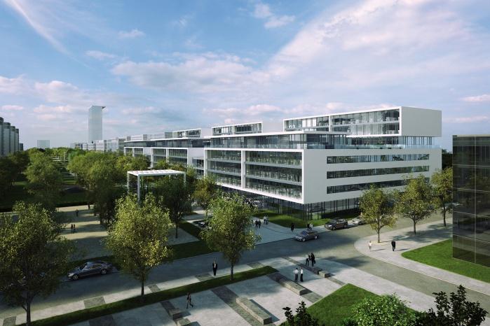 Hasenkopf fertigt Corian-Fassade für Microsoft München