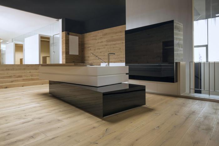 Küchen-Fronten aus hochglänzendem Parapan