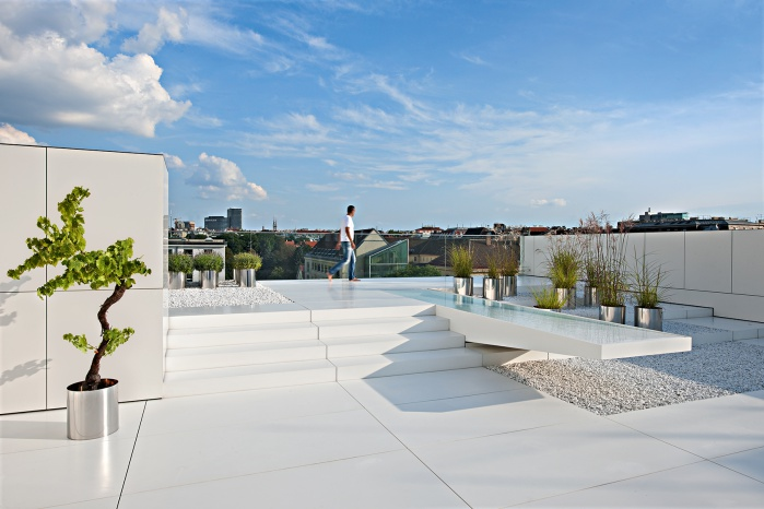 Hasenkopf Projekt TS11 Dachterrasse aus Corian