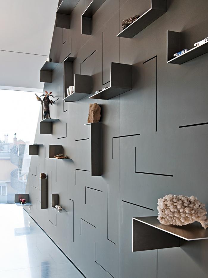 Wohnraum-Innenausbau mit Corian