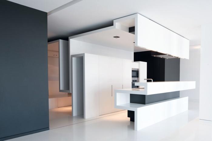 Hasenkopf Projekt Corian Design-Küche Upper Eastside