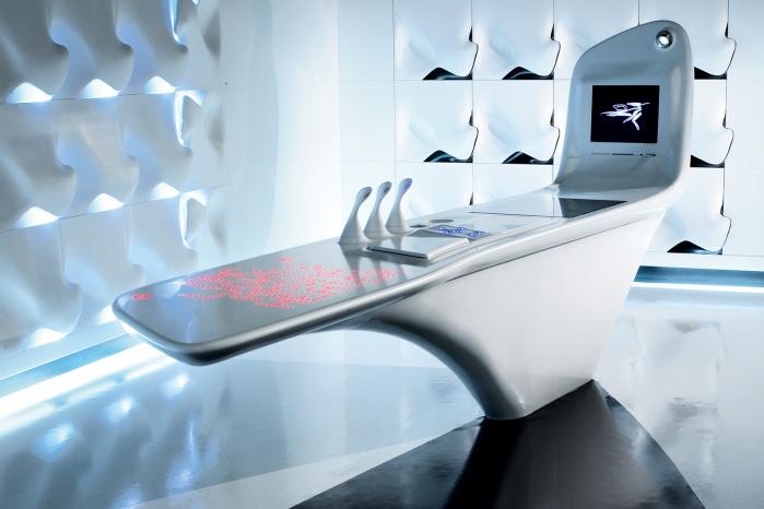 Interaktive Küchen-Arbeitsfläche mit Corian
