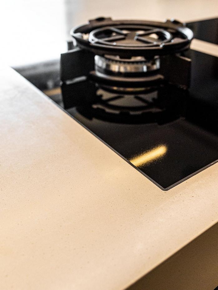 Küchenarbeitsplatte aus Corian Neutral Concrete