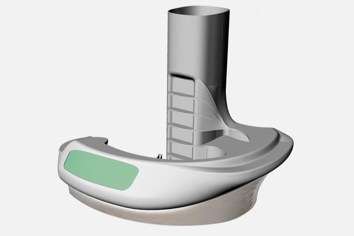 CAD-Zeichnung der Corian-Theke für Bar5