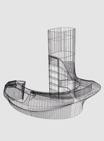 3D-Zeichnung Theke für Hasenkopf Projekt Bar 5