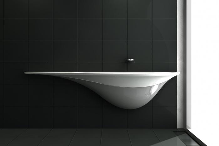 Design-Waschtisch aus Corian für Veech