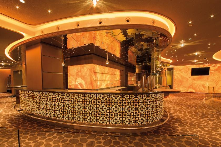 hinterleuchtete Corian-Theke für Casinos Austria