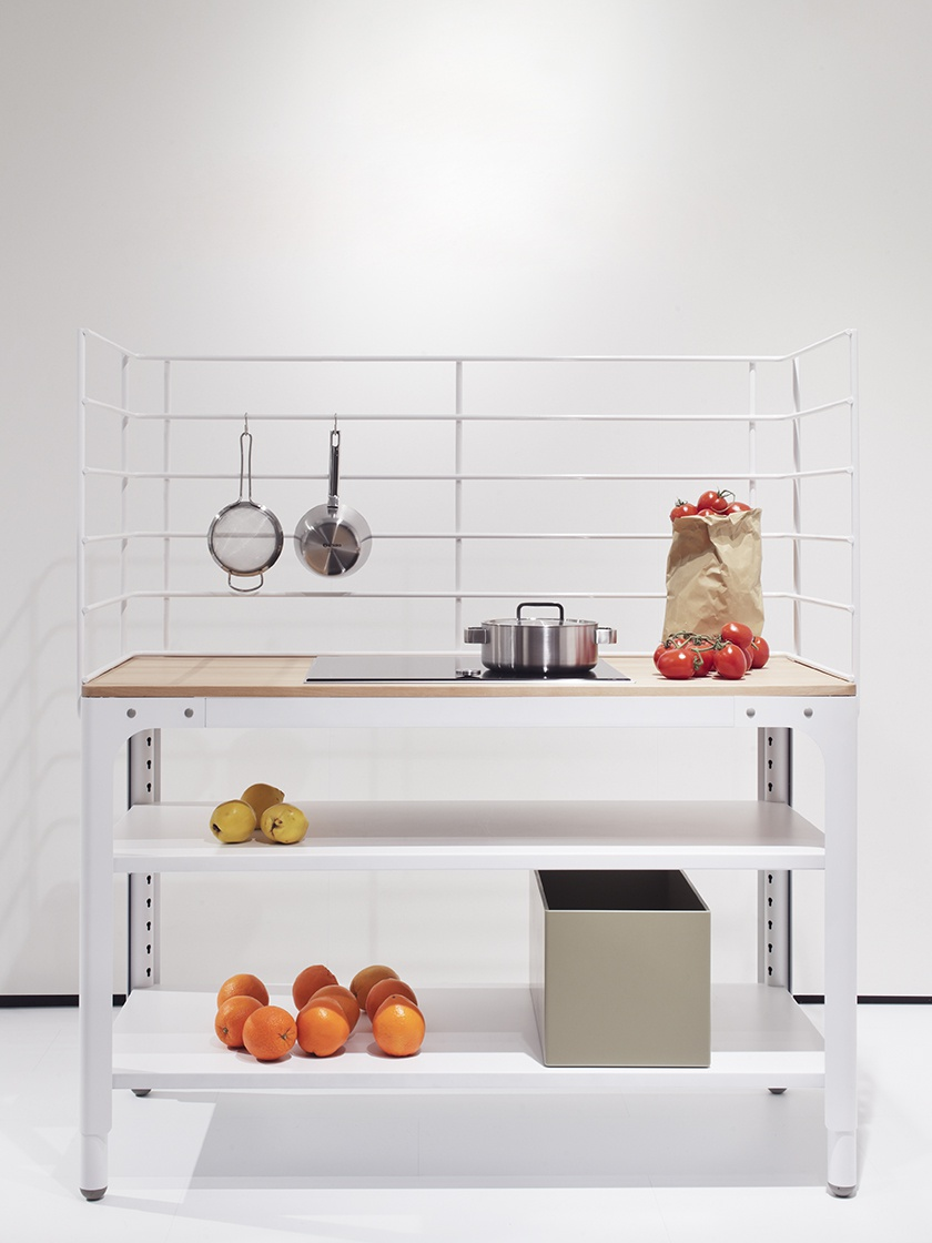 Mobile kuche detail armatur blanco der mobilen kche for Arbeitsplatte gartenkuche