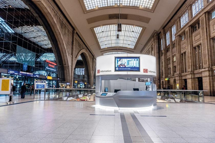 Leipzig Infotheke Bahnhofshalle