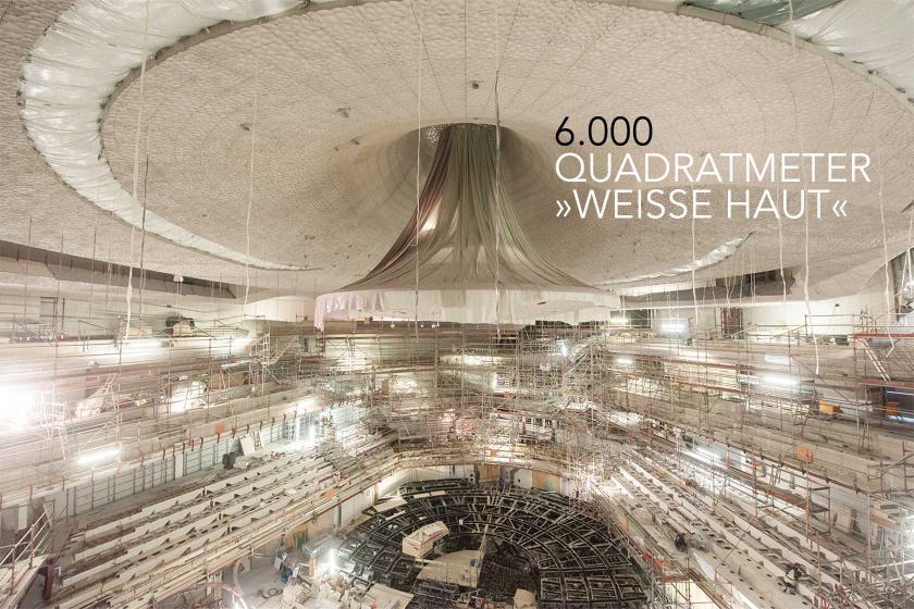 Elbphilharmonie Baufortschritt Montage