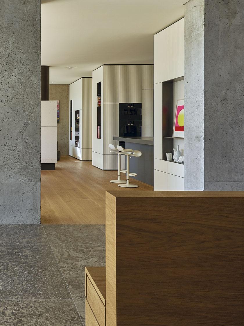 Frescata-Möbelfronten im Haus am See