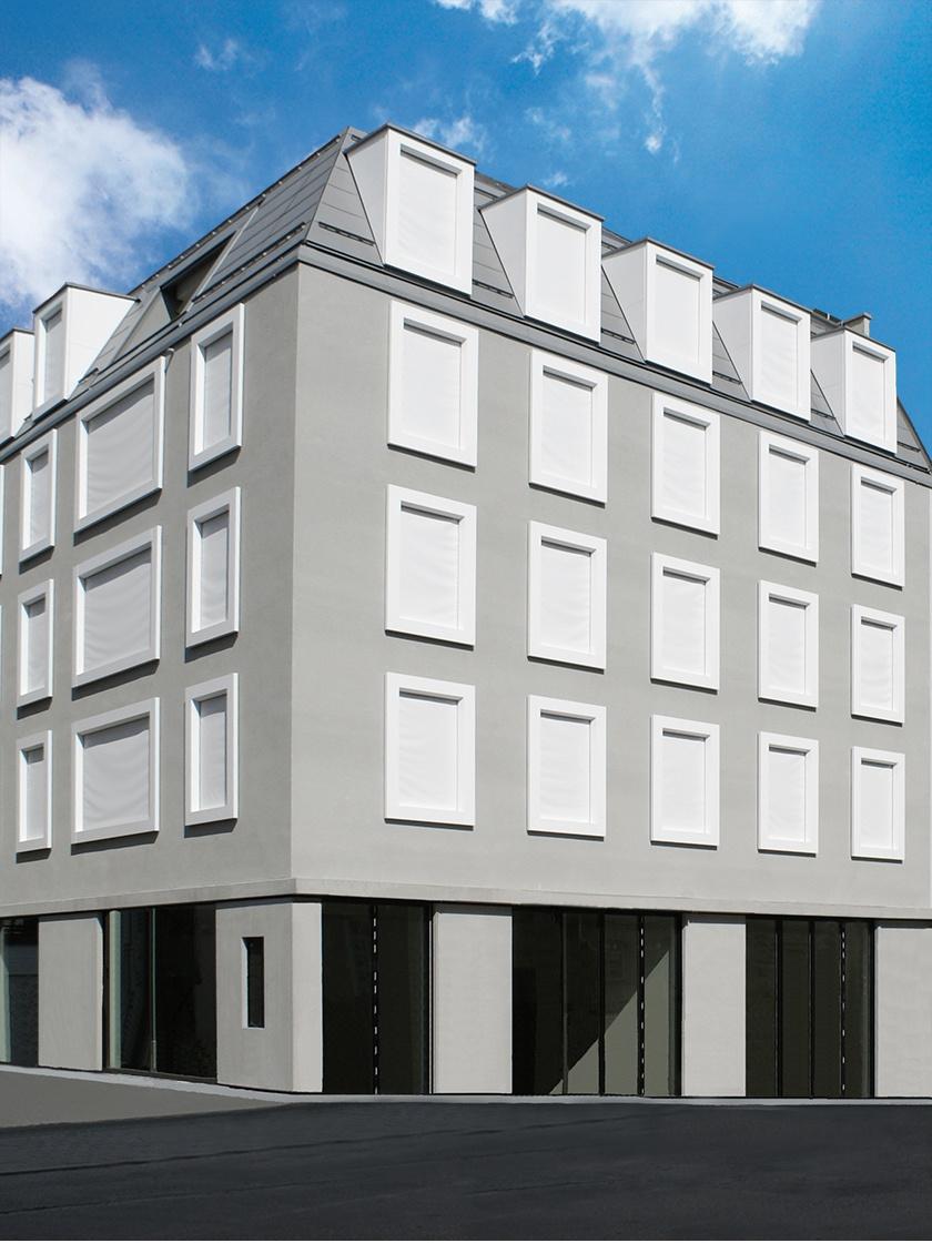 Fassaden-Material Corian für Fenster-Rahmen