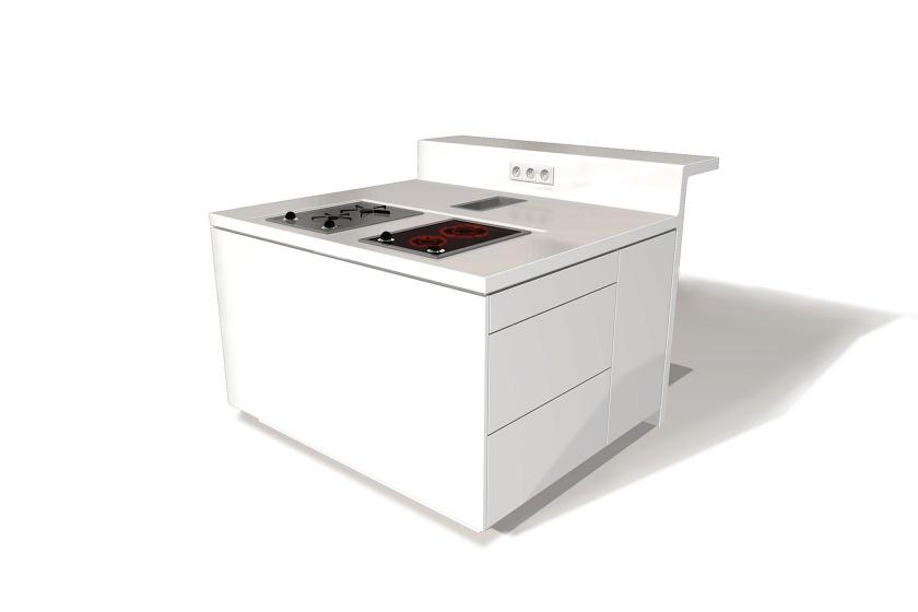 Küchen-Verkleidung aus weißem Corian