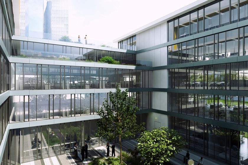 Microsoft München Fassade in Corian Glacier White