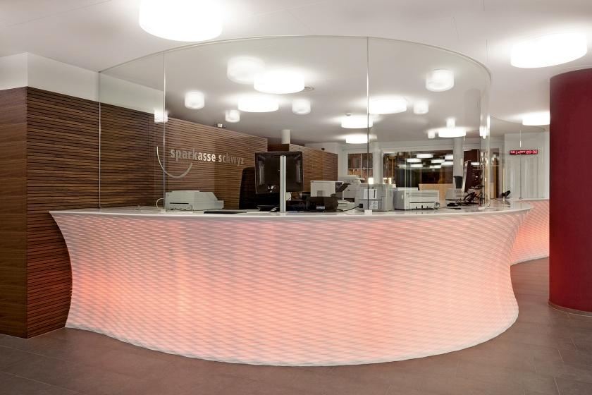 Hasenkopf Projekt Frescata-Theke für Sparkasse Schwyz