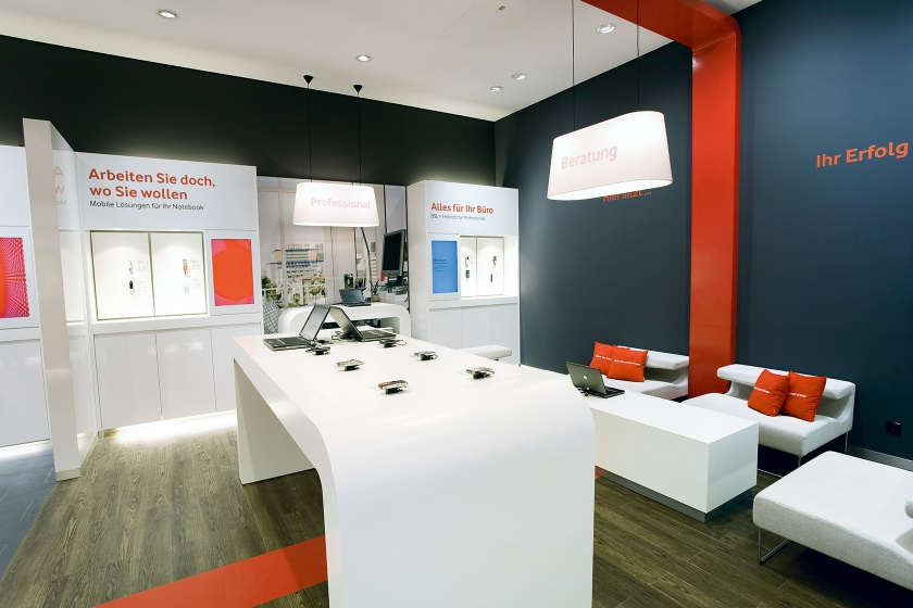 Hasenkopf Projekt Vodafone Shop Design